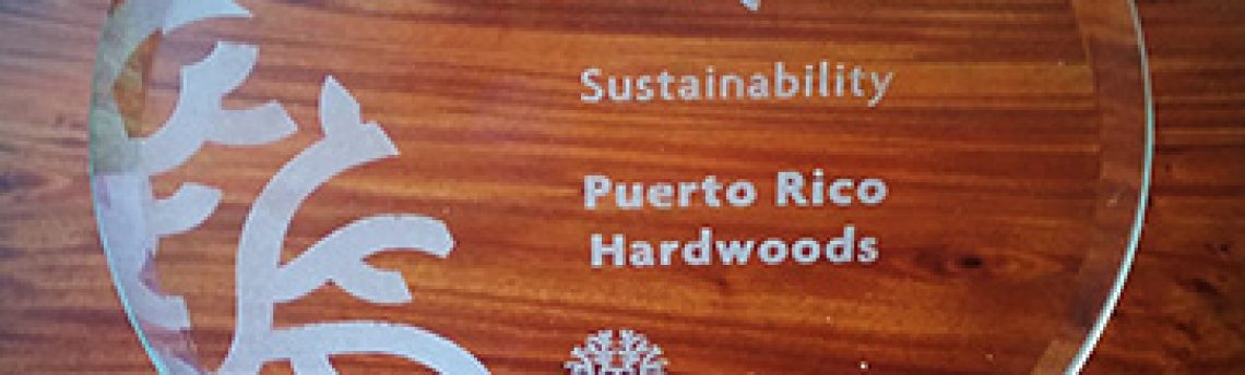 PR Hardwoods wins Sustainability Award, May 2016